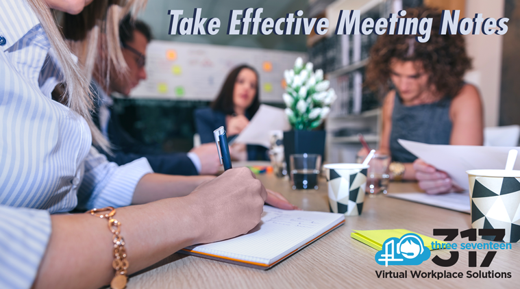 TAKE EFFECTIVE MEETING NOTES